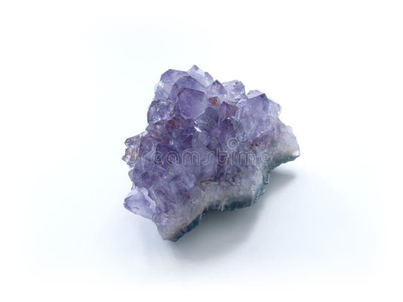 amethyst kristaller royaltyfria foton