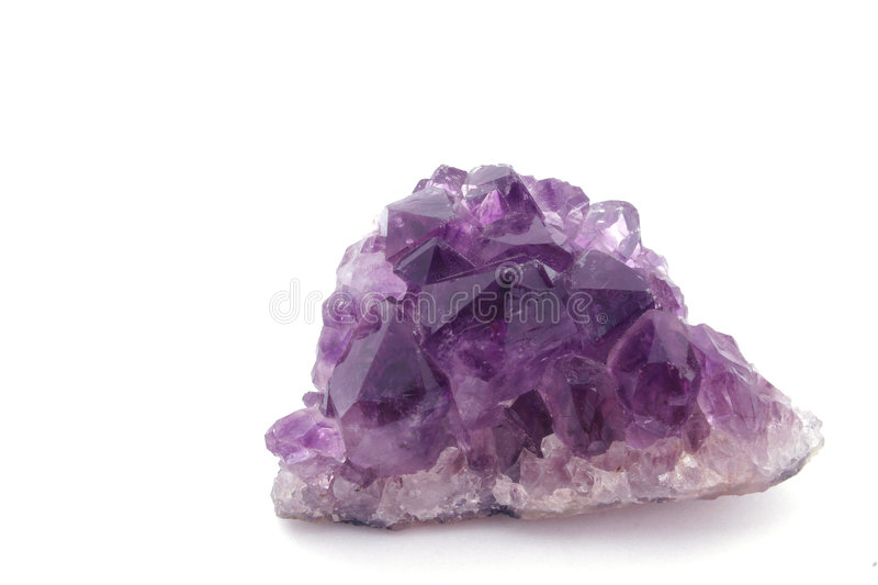 Amethyst quartz royalty free stock images