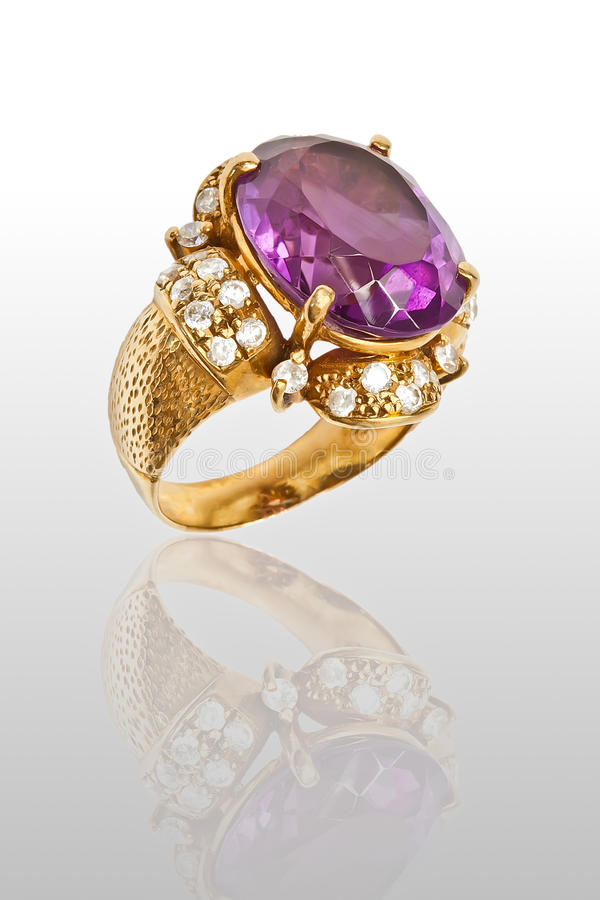 Download Amethyst Ring stock image. Image of transparent, ring - 36355321