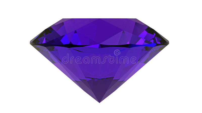 Download Ametist Gemstone, Tolkning 3D Stock Illustrationer - Illustration av sparkle, kristall: 78727360