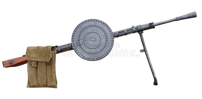 Ametralladora ligera aislada en blanco imágenes de archivo libres de regalías