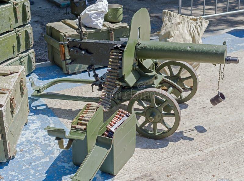 Ametralladora vieja fotografía de archivo
