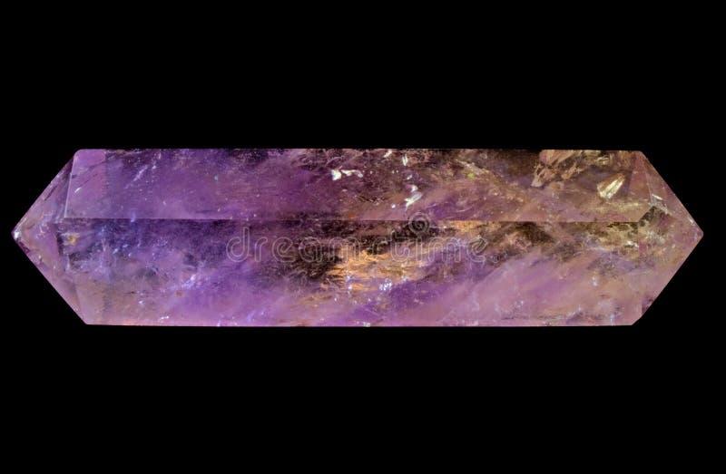 Ametrine, Trystine, Bolivianite (紫色&柠檬色) 库存照片