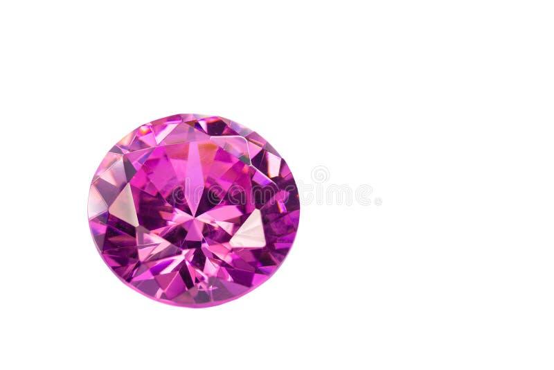 ametystowi diamenty na białym tle zdjęcie stock