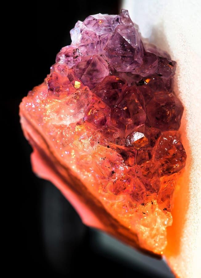 ametystowi kryształy zdjęcie royalty free