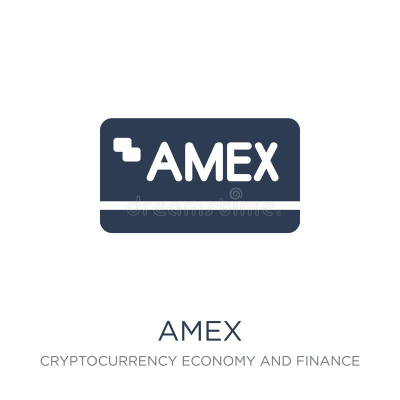 Amex icon. Trendy flat vector Amex icon on white background from royalty free illustration