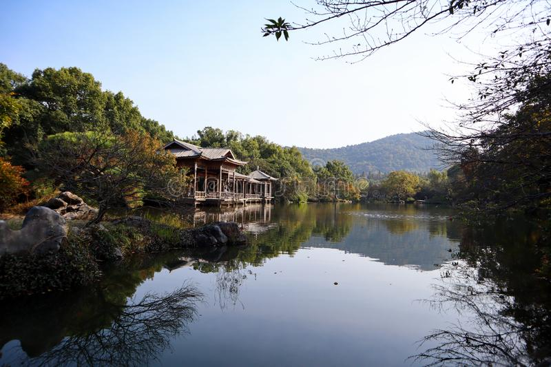 Amezing view of west lake and nature in Hangzhou city stock photo