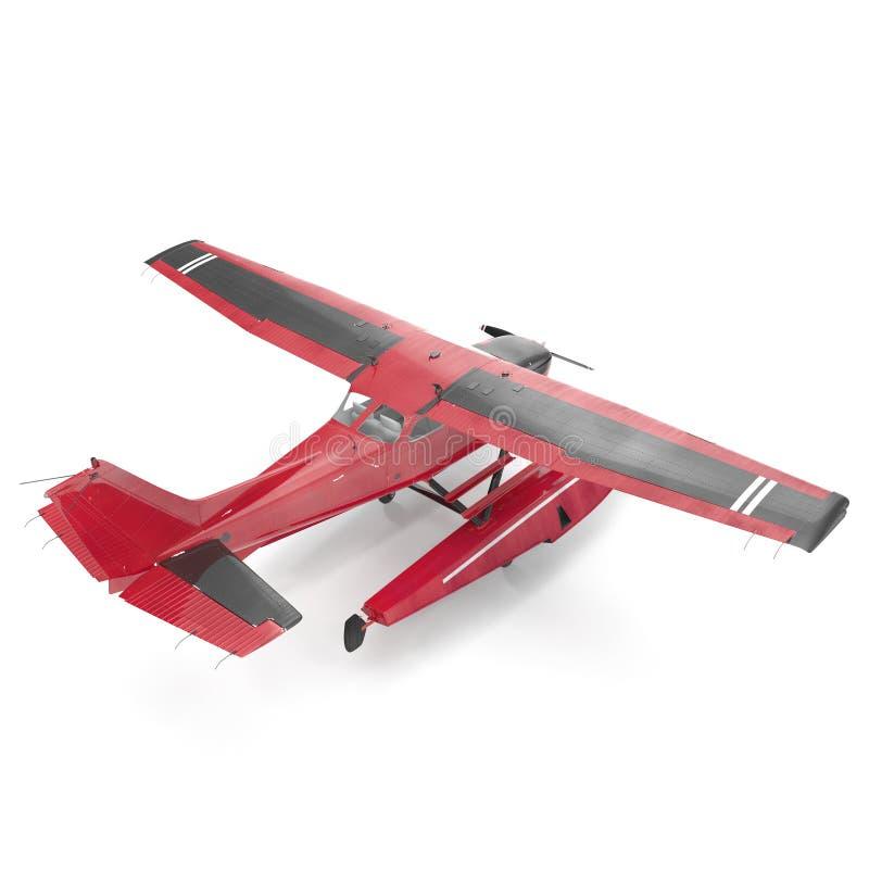 Amfibievliegtuig op wit 3D Illustratie vector illustratie