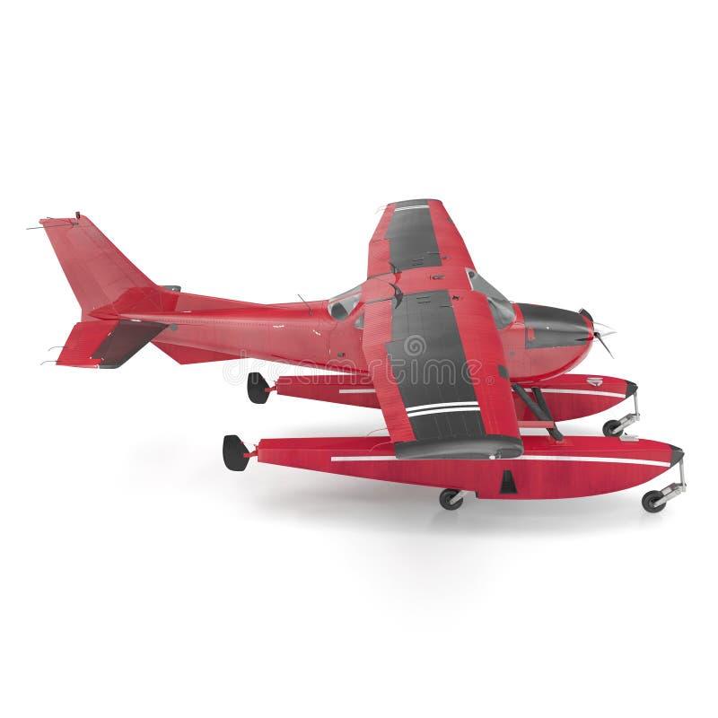 Amfibievliegtuig op wit 3D Illustratie royalty-vrije illustratie