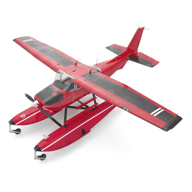 Amfibievliegtuig op wit 3D Illustratie stock illustratie