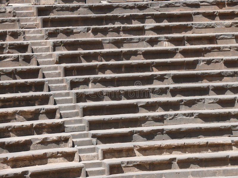 amfiteaterbosraen rows platser royaltyfria bilder