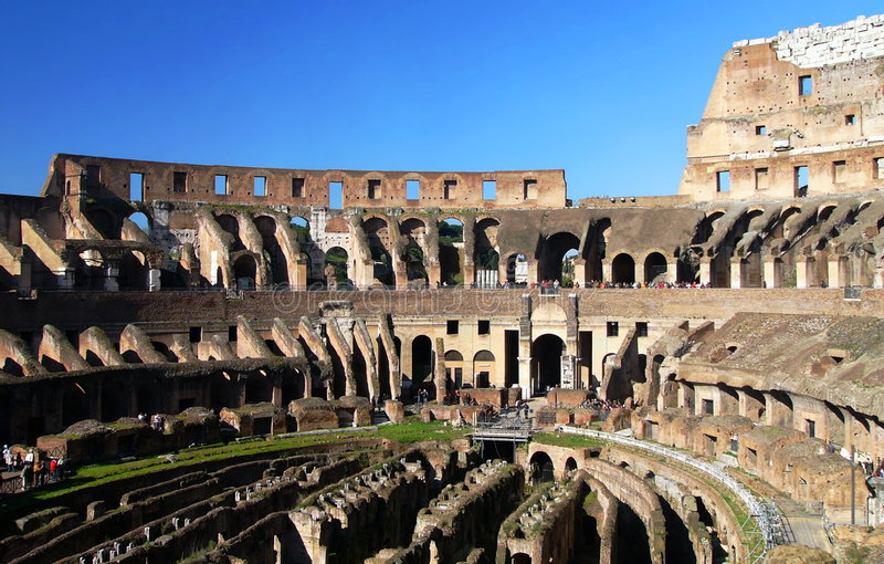 amfiteatercolosseum berömd flavian ita rome arkivfoto