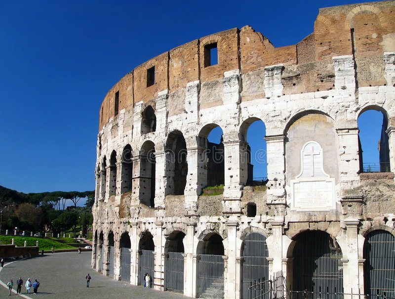 amfiteatercolosseum berömda flavian rome arkivfoton