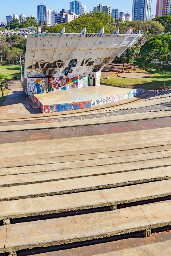 Amfiteatern kallade Luigi Borghesi eller Anfiteatro gör Zerao royaltyfria bilder