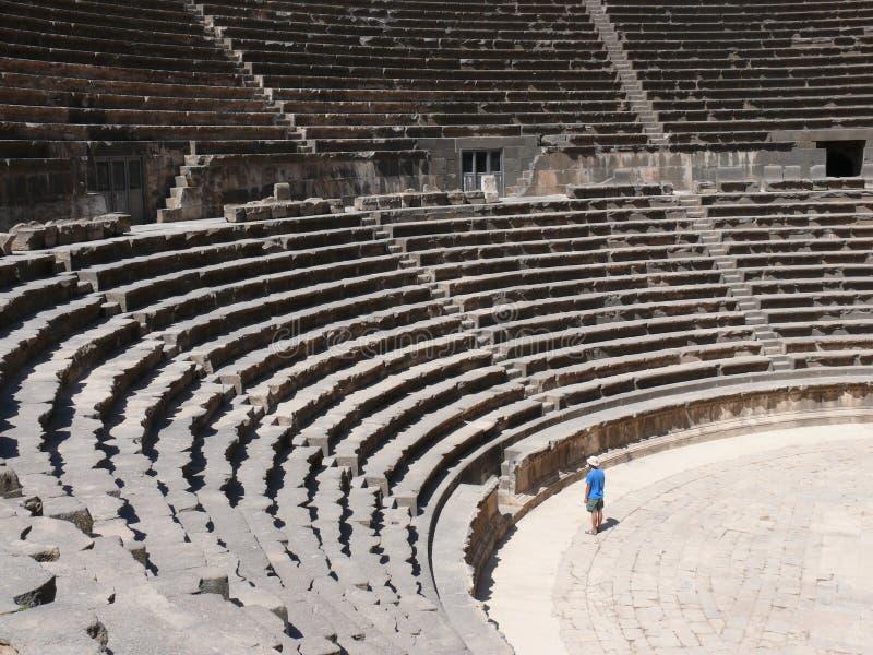amfiteatern rows platser arkivfoto
