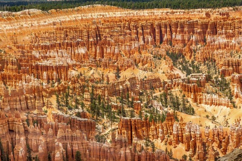 Amfiteatr inspiraci Bryka punktu Bryka jaru park narodowy Utah obraz stock