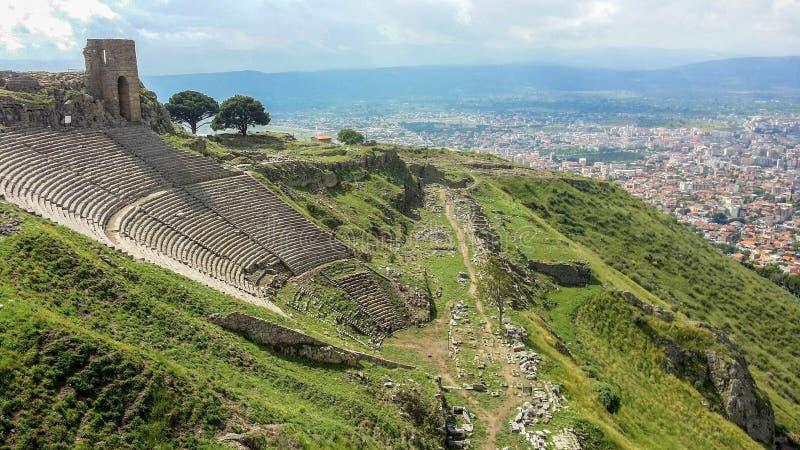 Amfiteatr, Pergamon, Turcja obrazy royalty free