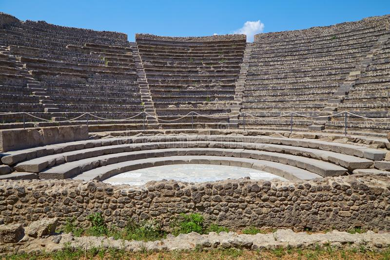 amfiteatr Pompeii mały zdjęcie stock