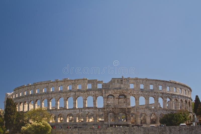 amfiteatr rzymski obraz stock