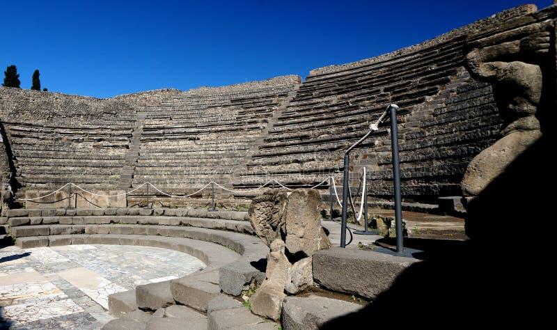Amfiteatr w Antycznym Pompeii zdjęcia stock