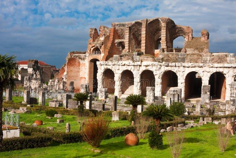 amfiteatru capua Maria Santa vetere zdjęcie stock