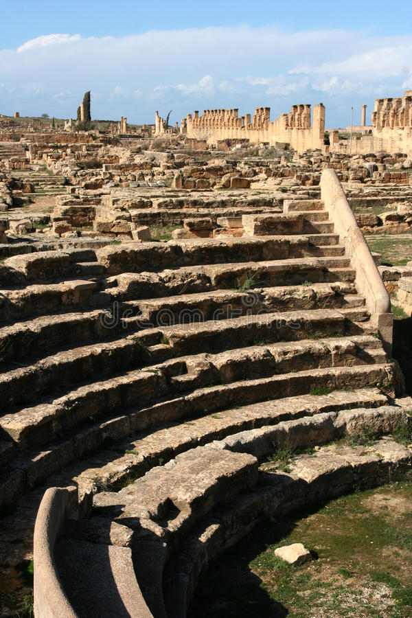 amfiteatru cyrene Libya mały obraz royalty free