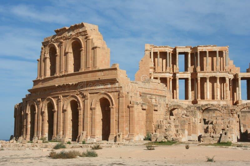 amfiteatru Libya sabratha obraz royalty free