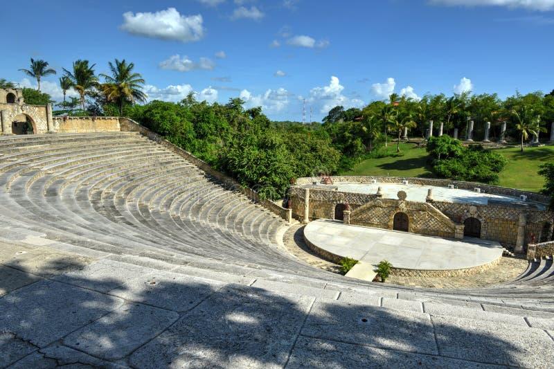 Amfitheater, Altos DE Chavon, La Romana, Dominicaanse Republiek stock foto's
