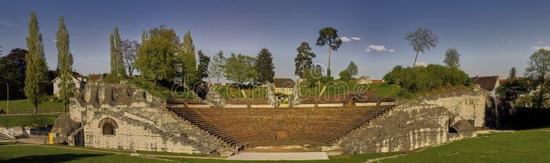 Amfitheater van Augusta Raurica Roman-theater stock fotografie