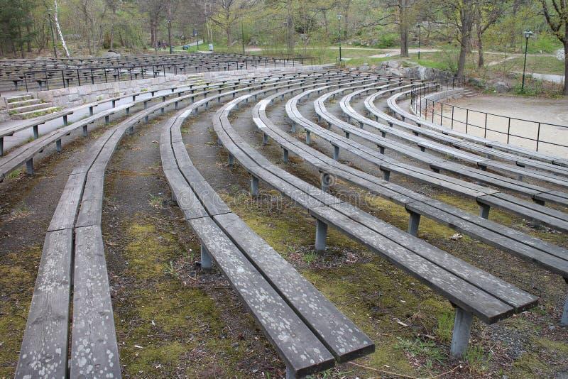 Amfitheather vacío en Estocolmo Suecia foto de archivo libre de regalías