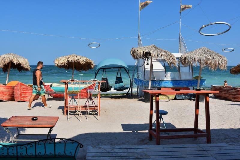 Amfory plaża na Vama Veche, Rumunia zdjęcia stock