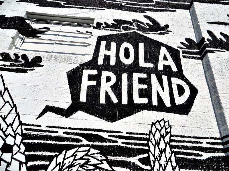 Ami De Hola Salut Amigo Peinture Murale Dans Austin Le