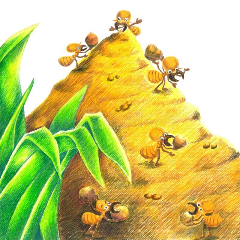 Ami de termite illustration stock