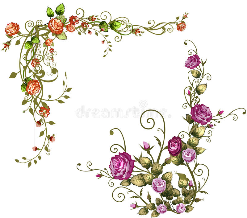 Ami il roses002 illustrazione vettoriale