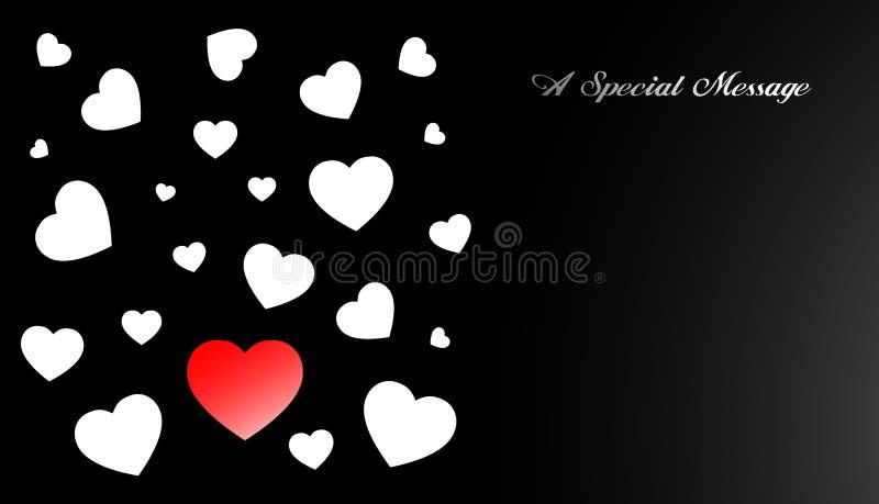 Ami la scheda del biglietto di S. Valentino del cuore illustrazione vettoriale