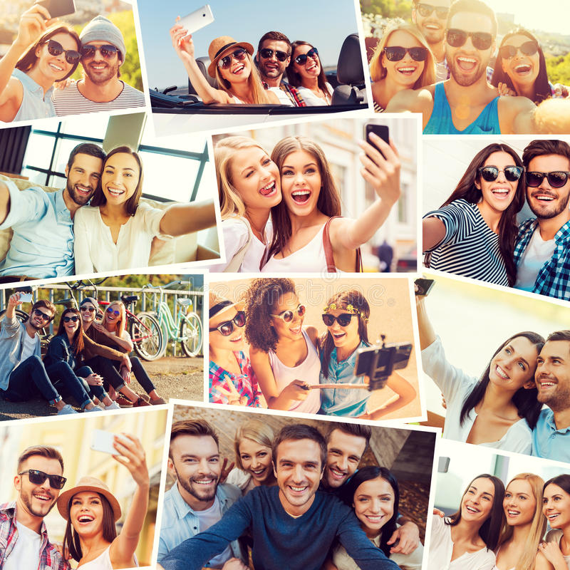 Amiamo il selfie! immagine stock libera da diritti