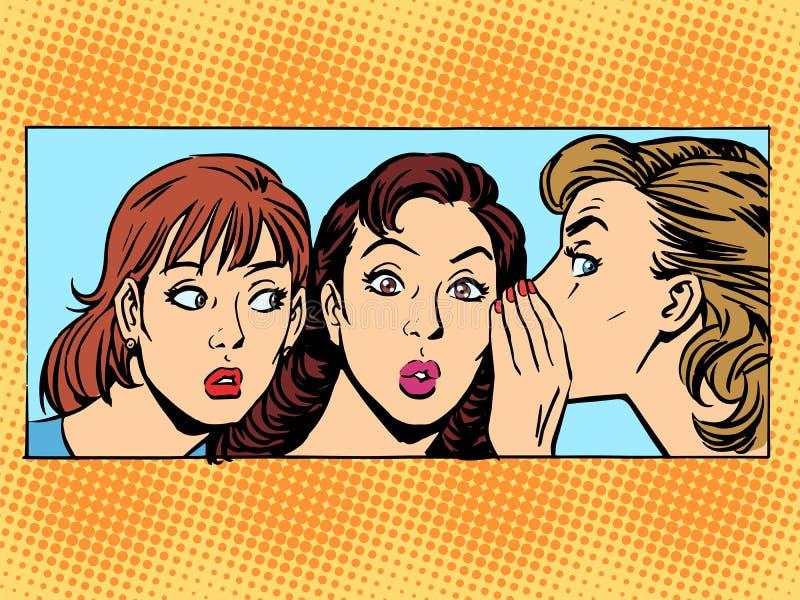 Amica della donna del gossip royalty illustrazione gratis