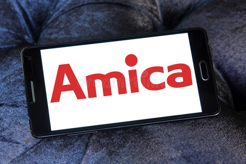 Amica firmy logo obrazy stock