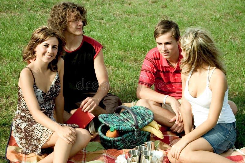 Amici al picnic fotografie stock libere da diritti