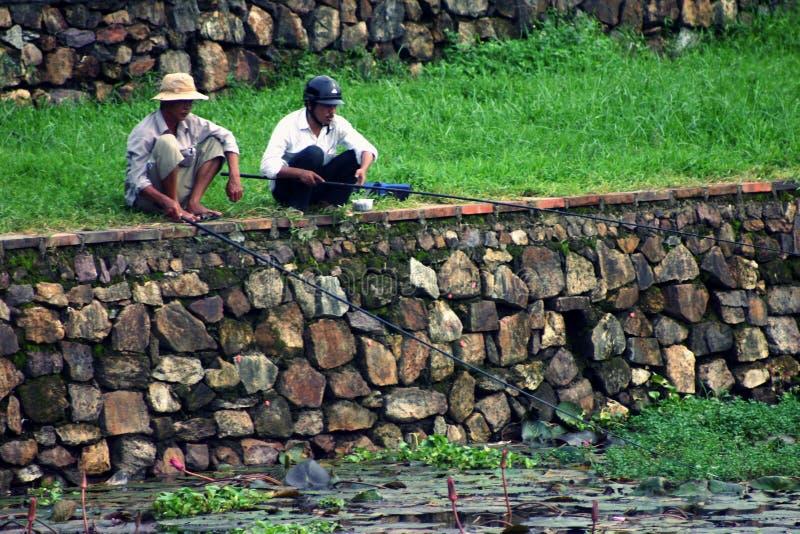 Compagni di pesca immagine stock libera da diritti