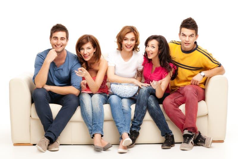 Amici della TV fotografie stock libere da diritti