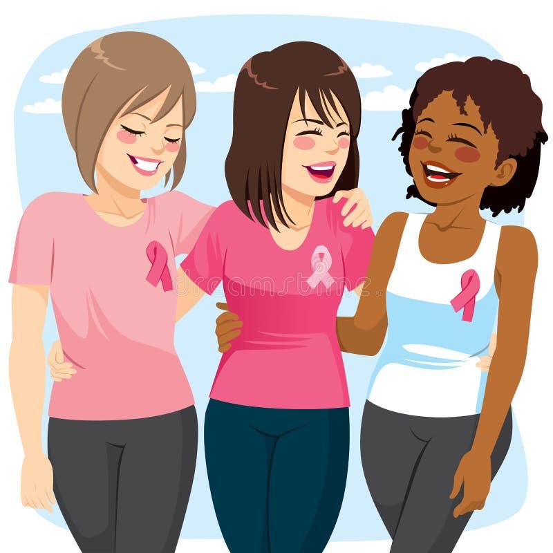 Amici delle donne del Cancro illustrazione di stock