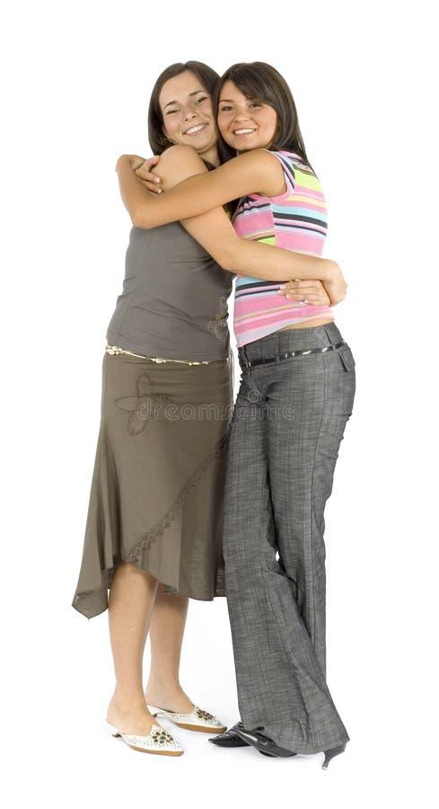 Amici di ragazza - abbraccio fotografie stock libere da diritti