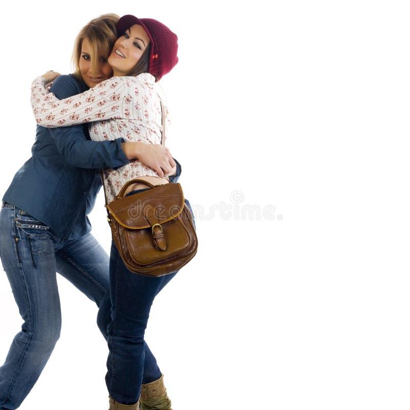 Amici felici delle giovani donne immagine stock libera da diritti