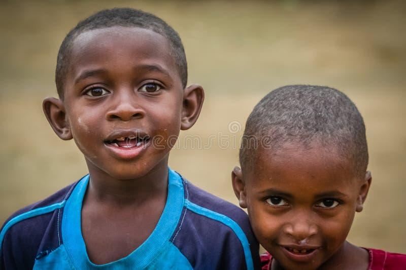 Amici malgasci fotografia stock