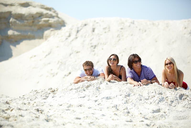Amici Sulla Spiaggia Immagine Stock Libera da Diritti