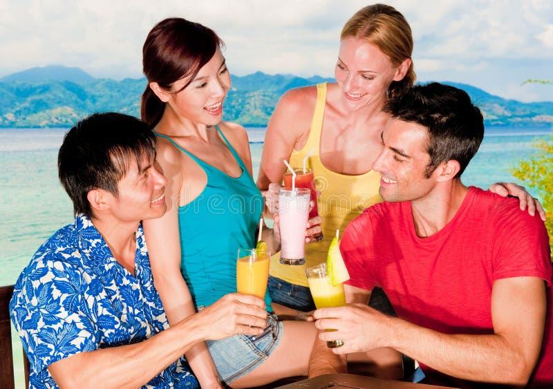 Amici sulla vacanza immagini stock