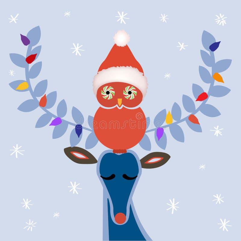 Amicizia di Natale illustrazione vettoriale