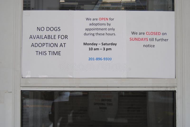Pet Adoptions, No Dogs Available, Lyndhurst, NJ, USA stock photos