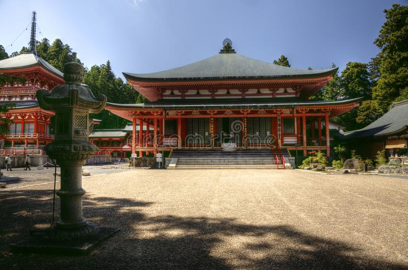 Amidado temple in Enryaku-ji monastery, Kyoto, Japan. Amida do hall and temple and lantern  in Enryaku-ji monastery at Mt. Hiei which is part of  it is part of stock images